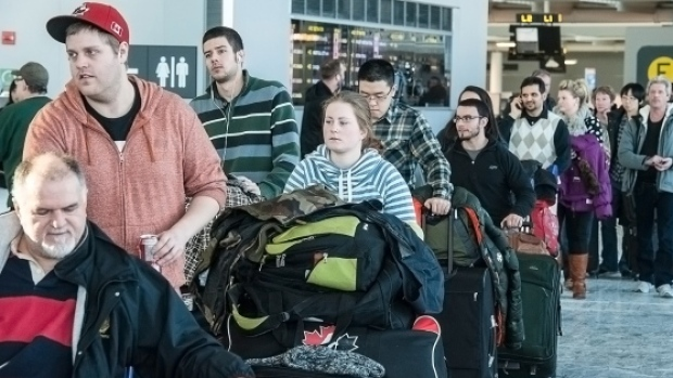Toronto and Montreal airports have different reasons for refusing to run an ad promoting a company that fights for compensation for air passengers.