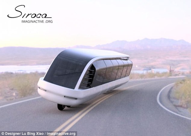 Canadian scientist and designer Bing Xiao Liu has created a hybrid bike-bus vehicle called The Siroco